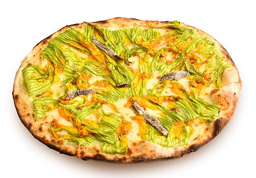 Pizza Bianca Fiori& Alici