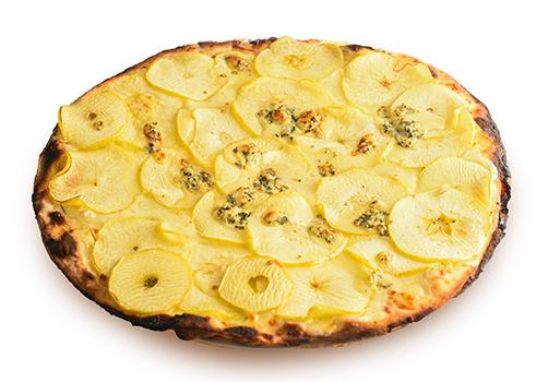 Pizza bianca gorgonzola e mela