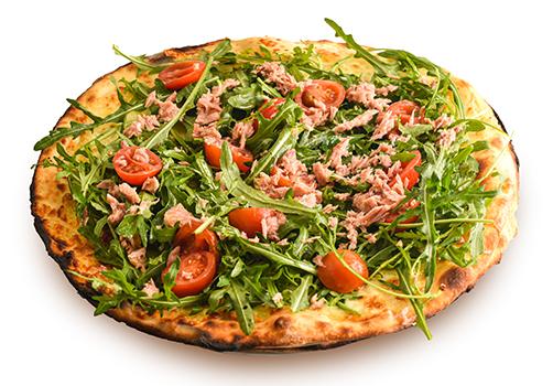 Pizza bianca primavera