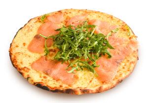 Pizza bianca al salmone