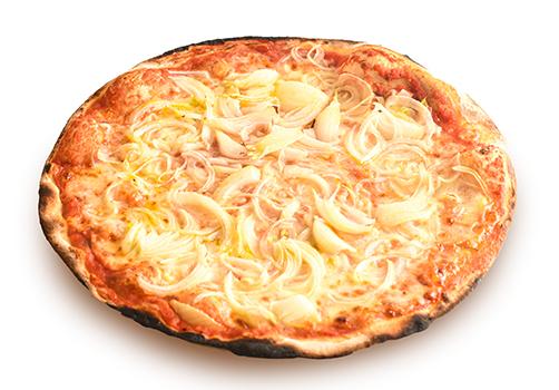 Pizza rossa alla cipolla