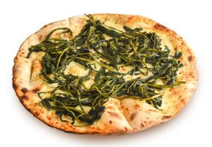 Pizza bianca con cicoria