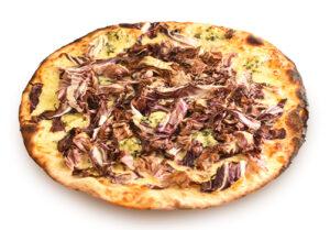 Pizza Bianca gorgonzola e radicchio