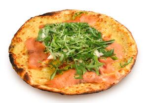 Pizza bianca Brie e Salmone
