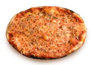 Pizza rossa con tonno